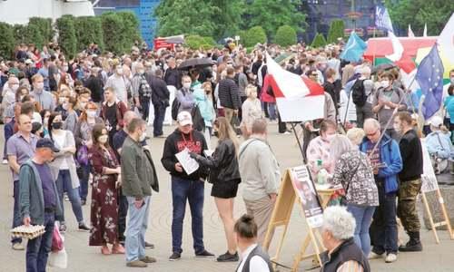 Belarus opposition eyes ouster of strongman president