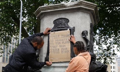 UK denounces toppling of slave trader's statue