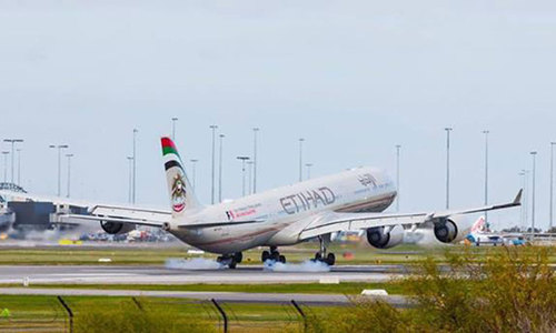 Second Etihad plane from UAE lands in Israel