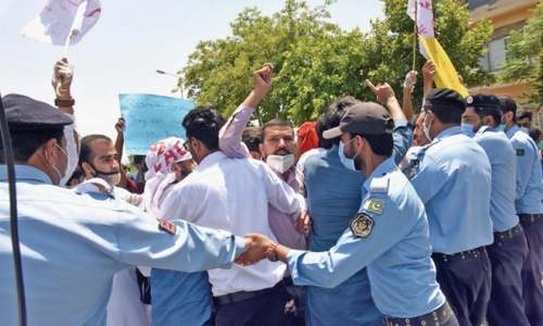 Students protest 'faulty' online system, charging of fee by varsities