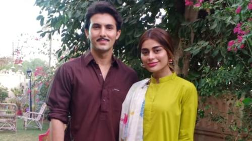 Shahroz Sabzwari and Sadaf will appear together in Eid telefilm, Na Ghar Ke Na Ghat Ke