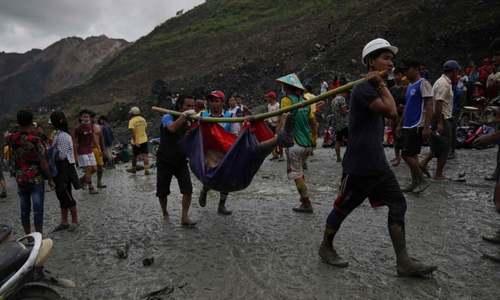 میانمار: مٹی کے تودے گرنے سے 160 کان کن ہلاک