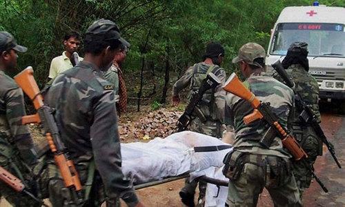 بھارت: مسلح ملزمان نے گھات لگا کر افسر سمیت 8 اہلکار ہلاک کردیے