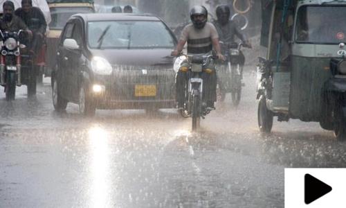 کراچی میں مون سون کی پہلی بارش