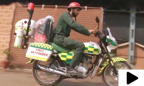 لاہور میں ریسکیو 1122 موٹر بائیک ایمبولینس سروس کا کامیاب سفر