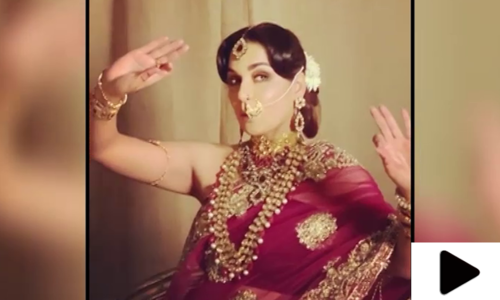 پاکستانی اداکارہ میرا کی کلاسیکل گانے پر رقص کی ویڈیو وائرل