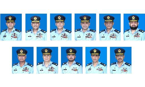 پاک فضائیہ میں ایک ایئر افسر کی ایئرمارشل اور 10 کی ایئروائس مارشل کے عہدے پر ترقی