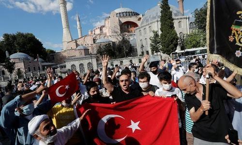 ایا صوفیہ عدالتی فیصلے کے بعد مسجد بن گیا، ترک صدر اردوان