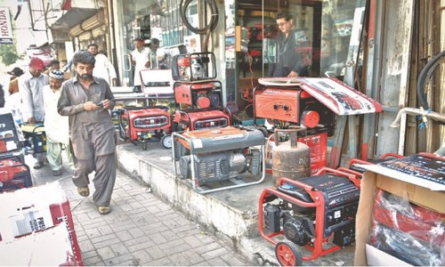 Generator sales shoot up in Karachi due to loadshedding, prolonged power cuts