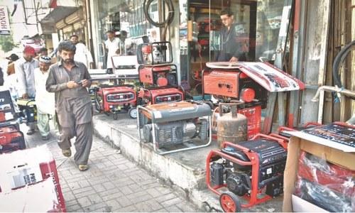 کراچی: لوڈ شیڈنگ، بجلی کی  طویل بندش کے باعث جنریٹرز کی فروخت میں اضافہ