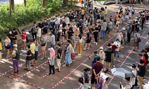 ہانگ کانگ: نئے سیکیورٹی قانون کے خلاف 'احتجاجی' ووٹنگ، 5 لاکھ سے زائد ووٹ کاسٹ