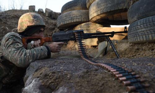Azeri, Armenian troops clash along border