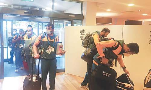 Pakistan squad reaches Derby