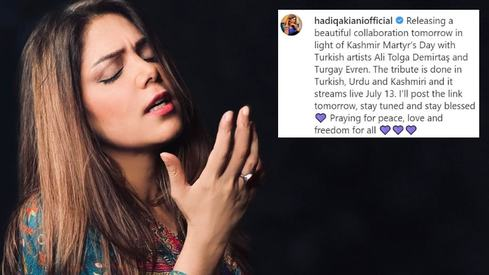Hadiqa Kiani collaborates with Turkish singer for a tribute to Kashmiri martyrs