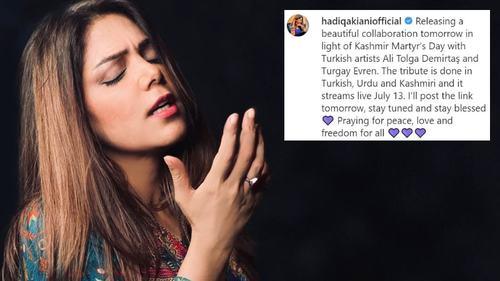 Hadiqa Kiani collaborates with Turkish singer for a tribute to Kashmiri martyrs