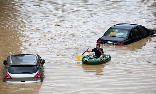 چین میں بدترین سیلابی صورتحال، 33دریا تاریخ کی بلند ترین سطح پر پہنچ گئے