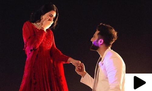 اداکارہ سارہ خان اور گلوکار فلک شبیر کی منگنی کی خوبصورت ویڈیو