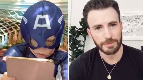 Chris Evans sends special message to 6 year who saved little sister's life