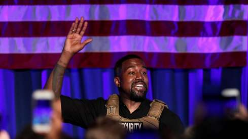 Tearful Kanye West kicks off his presidential campaign with infamous rant