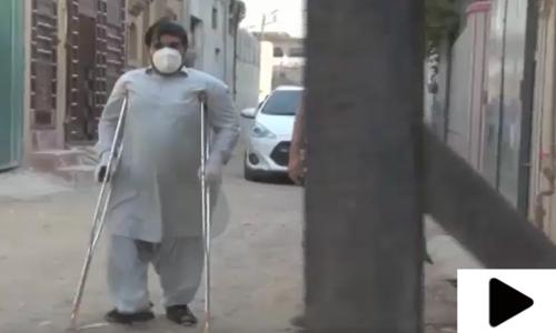 پولیو سے متاثرہ باہمت شخص  نے معذوری کو شکست دے دی
