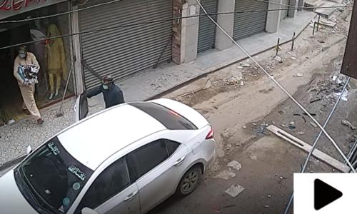 کراچی میں عید الاضحیٰ کے موقع پر طارق روڈ پر نقب زنی کی واردات