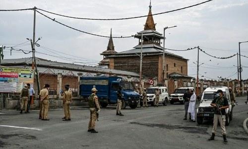 5 اگست کے پیشِ نظر بھارتی حکام نے مقبوضہ کشمیر میں کرفیو نافذ کردیا