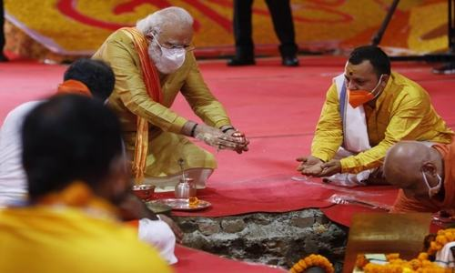 Pakistan condemns construction of temple at Babri Masjid site as Modi lays foundation