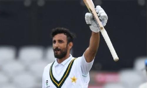 پاک-انگلینڈ پہلا ٹیسٹ: شان مسعود کی سنچری، پاکستان کا اسکور 5 وکٹوں پر 268 رنز