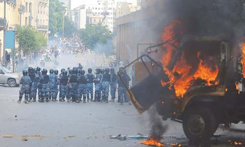 Shots, tear gas fired as protests against Beirut blast grow