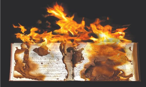 ESSAY: THE GLOW OF BURNING BOOKS