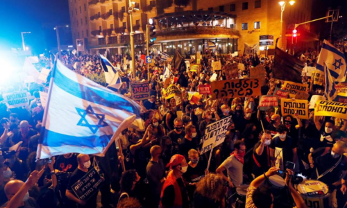 'Your time is up': Thousands protest against Netanyahu over handling of Covid-19 and alleged corruption