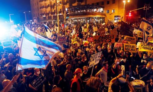 اسرائیلی وزیراعظم کے خلاف ہزاروں افراد کا احتجاج، کرپشن کے الزامات، استعفے کا مطالبہ