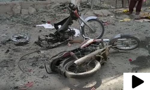 چمن: مال روڈ پر دھماکے کے بعد کے مناظر