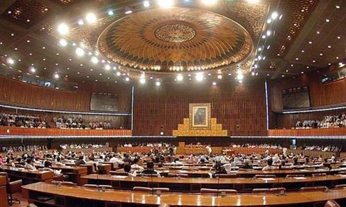 Govt rushes FATF-related bill through NA panel amid opposition uproar