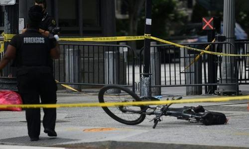 ڈونلڈ ٹرمپ کی میڈیا بریفنگ کے دوران وائٹ ہاؤس کے نزدیک فائرنگ