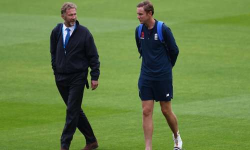 England's Broad fined by father for using inappropriate language while dismissing Yasir Shah