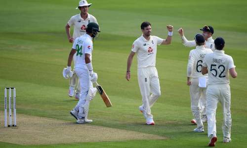 Anderson strikes as Pakistan lose Shan Masood in second Test