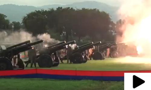 جشن آزادی پر اسلام آباد توپوں کی آواز سے گونج اٹھا