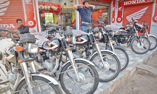 Motorbike production slumps