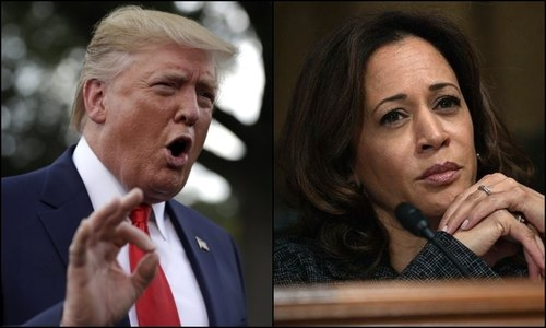 Trump fans false 'birther' theory about Kamala Harris