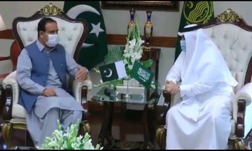 سعودی سفیر کی وزیراعلیٰ پنجاب، مسلم لیگ (ق) کی قیادت سے ملاقات