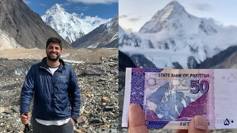 This guy travelled to all the landmarks on Pakistani currency notes