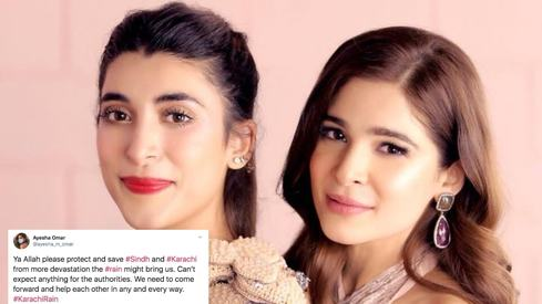 Ayesha Omar, Urwa Hocane, other celebs lament devastation in Karachi