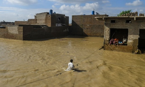 What really caused the floods in Karachi?