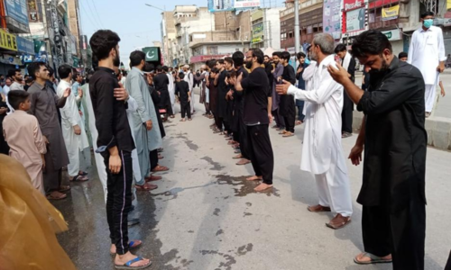 Muharram 9 processions taken out nationwide amid strict security, partial suspension of cellular services