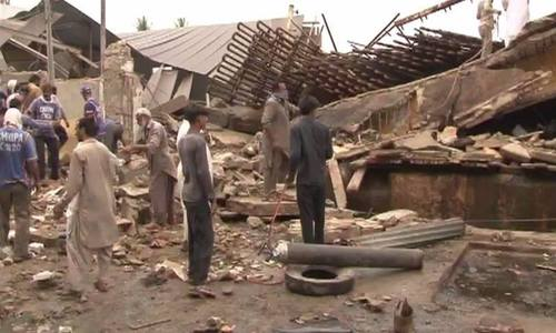 Nine hurt as factory roof collapses in Karak