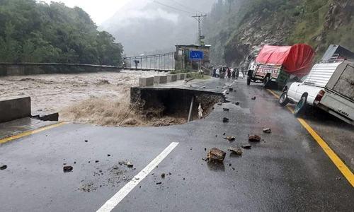 2 children killed in Shangla as heavy rains damage houses, block major roads in KP