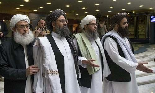 Taliban say negotiating team in Qatar for Afghan peace talks