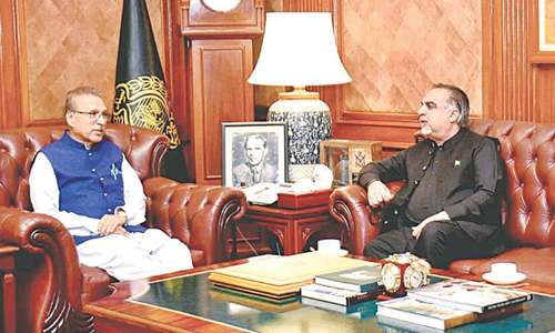 President reaffirms centre's support for Karachi
