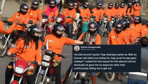A woman in Karachi was refused a bike license because of her gender